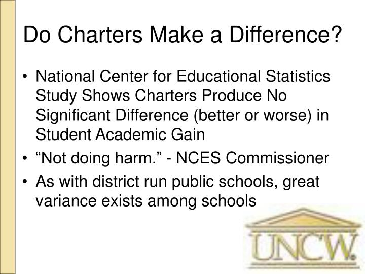 Do Charters Make a Difference?