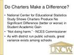 do charters make a difference