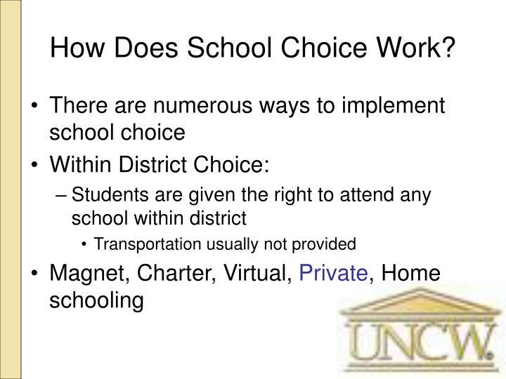 How Does School Choice Work?