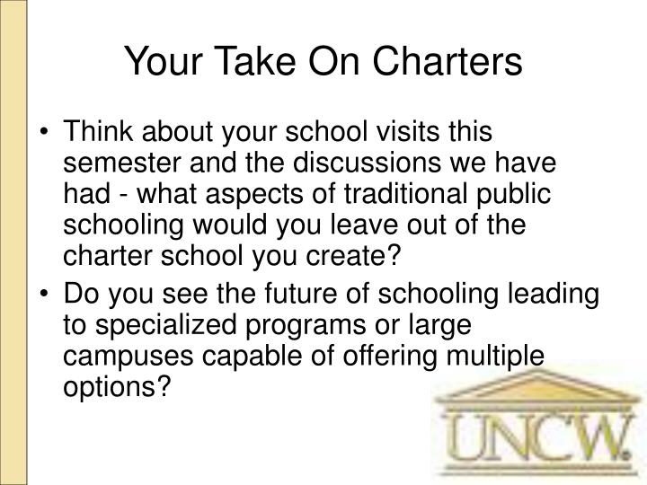 Your Take On Charters
