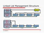 linked list management structure3