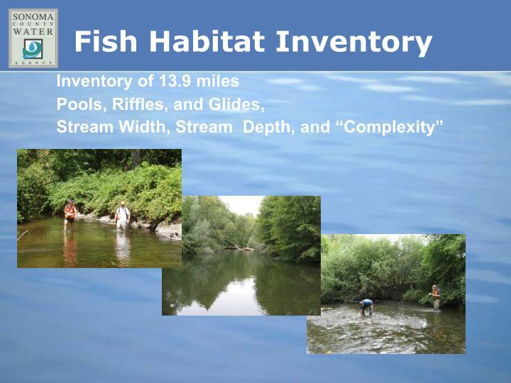 Fish Habitat Inventory