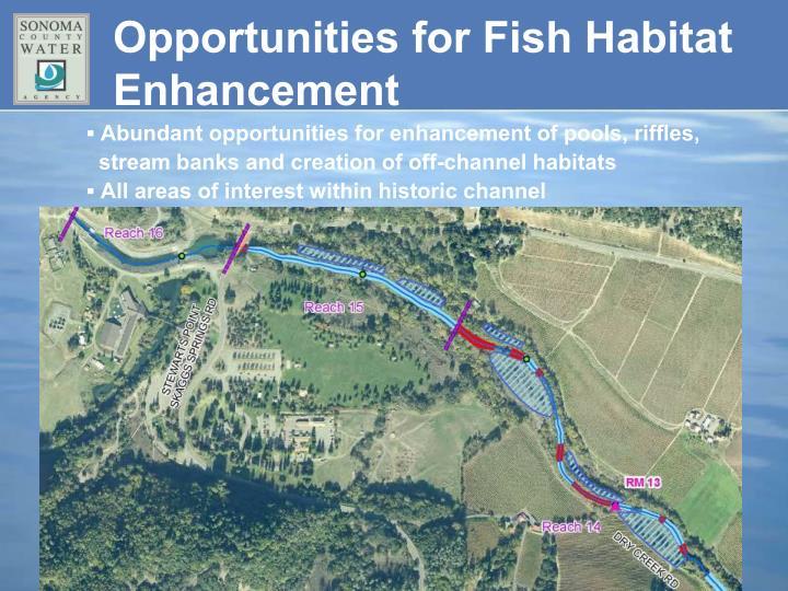 Opportunities for Fish Habitat Enhancement