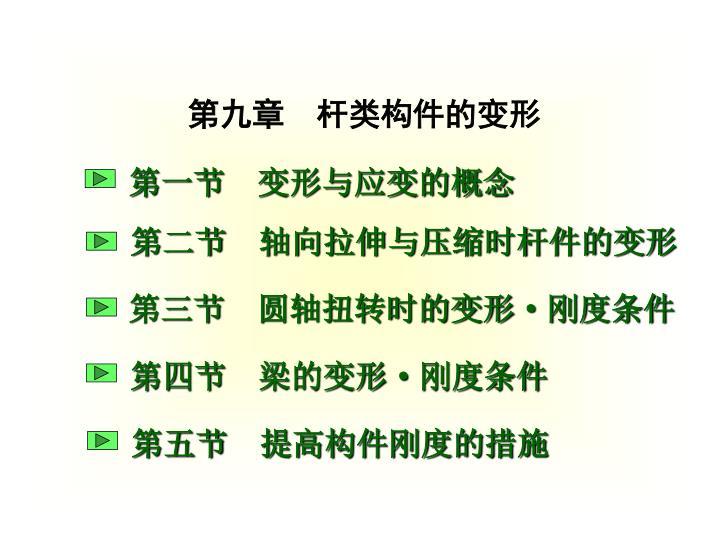 第九章  杆类构件的变形
