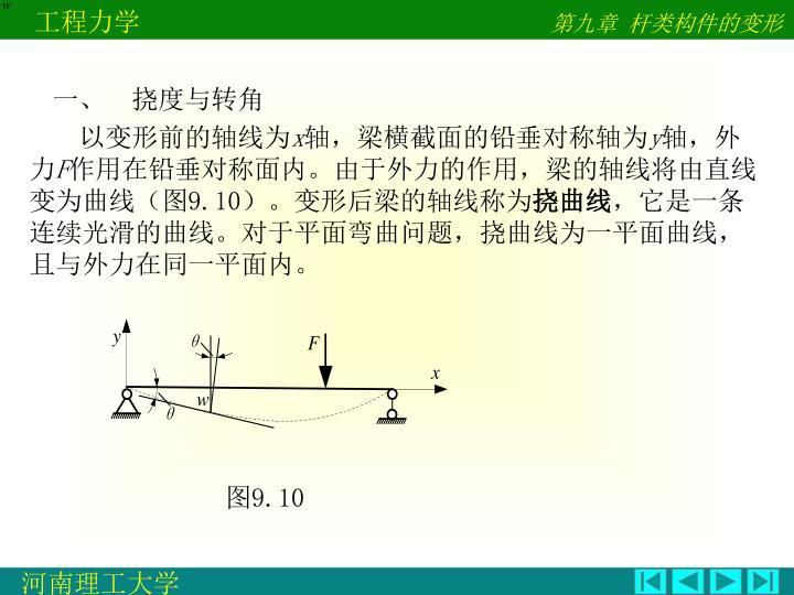 一、  挠度与转角