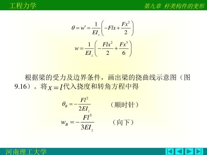 根据梁的受力及边界条件,画出梁的挠曲线示意图(图