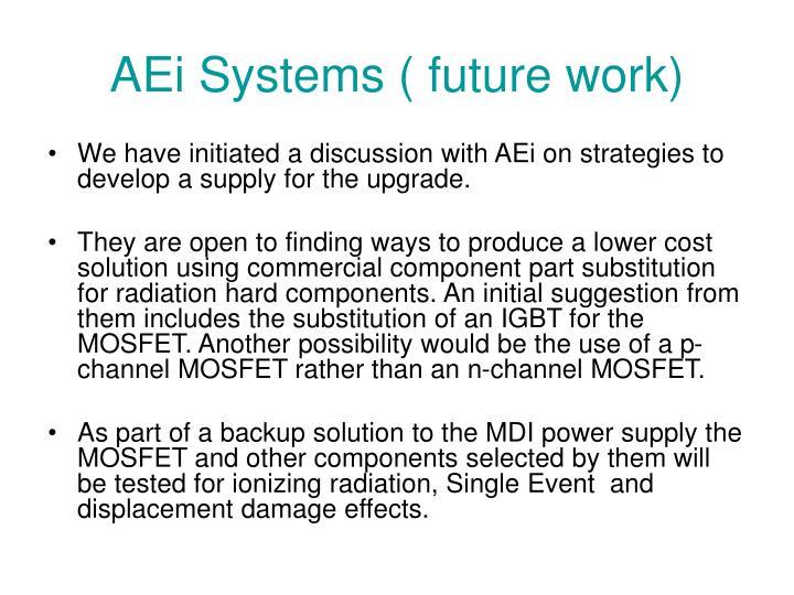 AEi Systems ( future work)