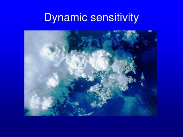 Dynamic sensitivity