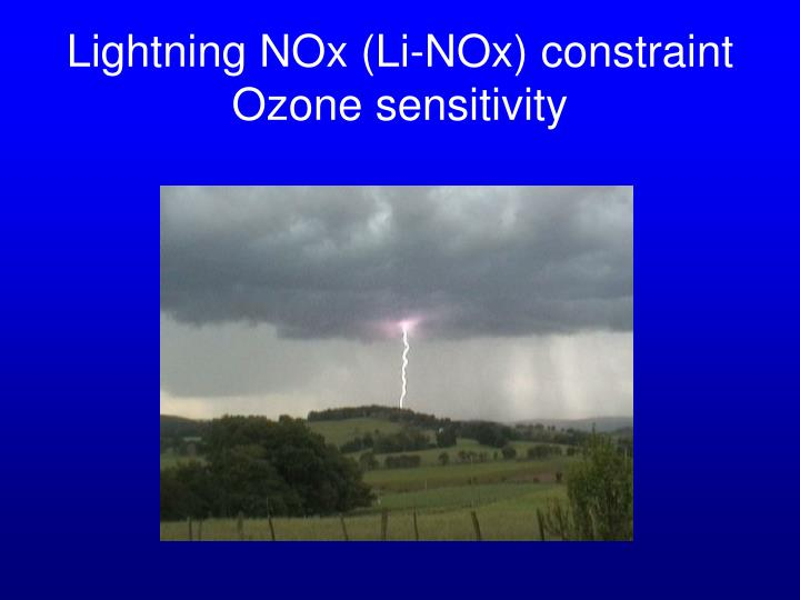 Lightning NOx (Li-NOx) constraint