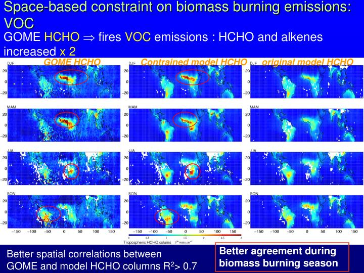 Space-based constraint on biomass burning emissions: