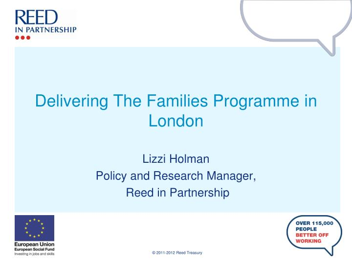 Delivering the families programme in london