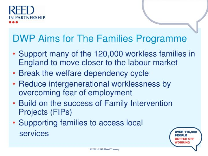 Dwp aims for the families programme