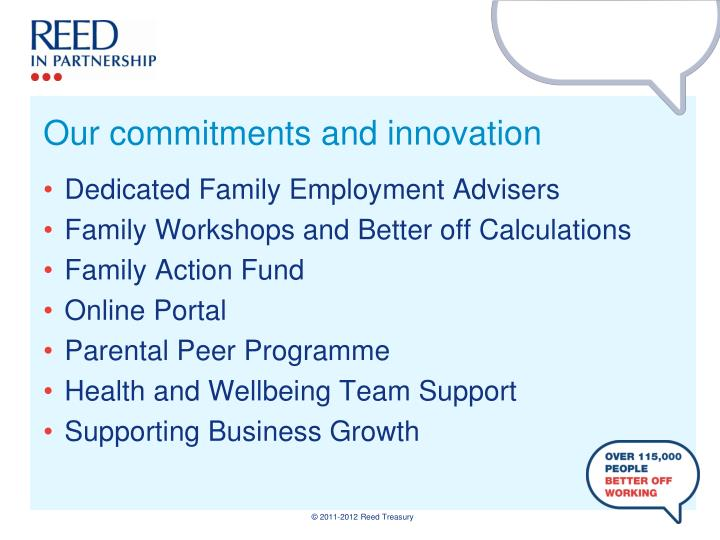 Our commitments and innovation