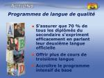 programmes de langue de qualit