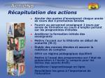 r capitulation des actions