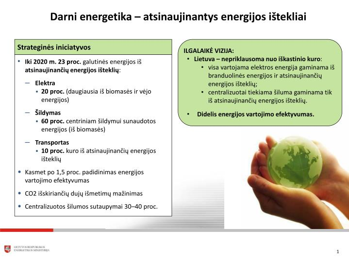 Darni energetika – atsinaujinantys energijos ištekliai