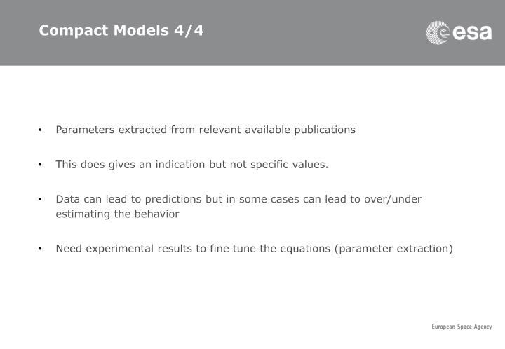 Compact Models 4/4