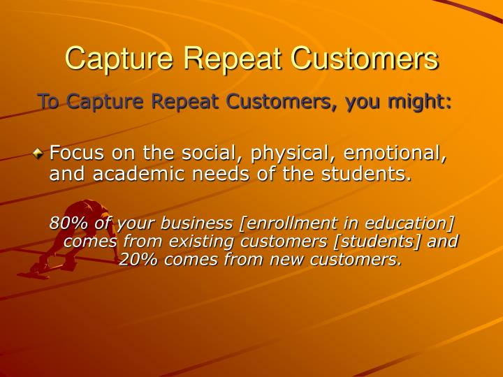 Capture Repeat Customers