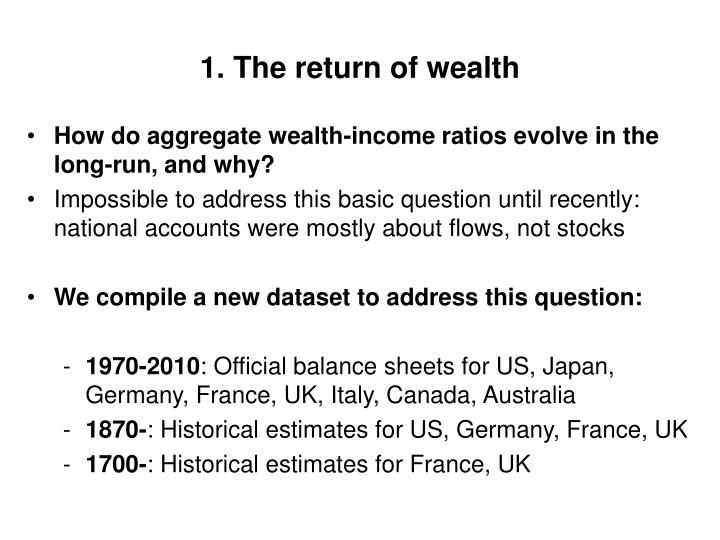 1. The return of wealth