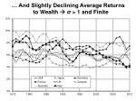 and slightly declining average returns to wealth 1 and finite