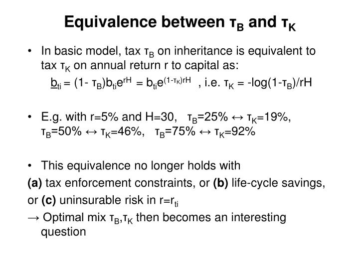 Equivalence between