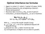 optimal inheritance tax formulas