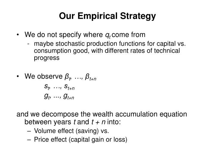 Our Empirical Strategy