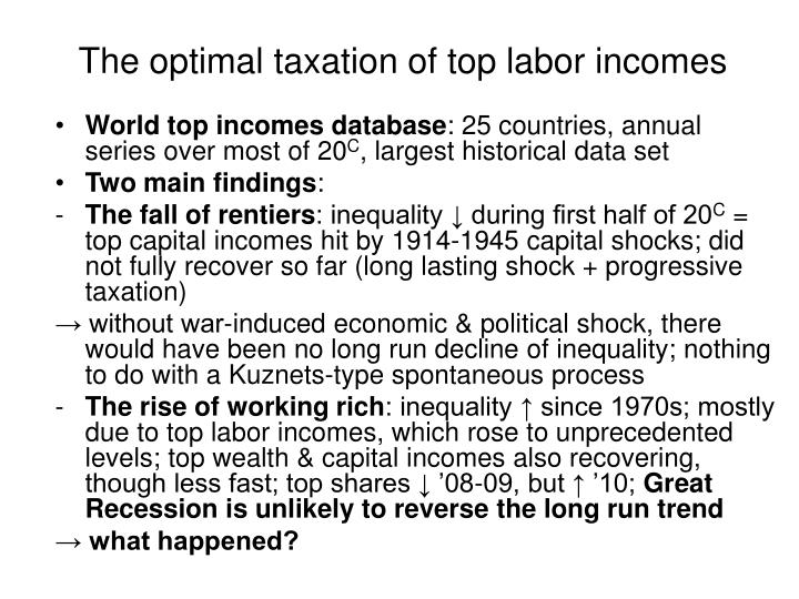 The optimal taxation of top labor incomes