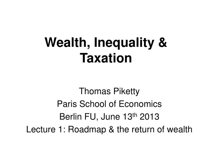 wealth inequality taxation