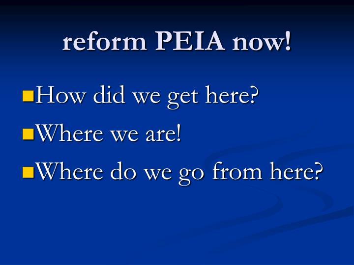reform PEIA now!