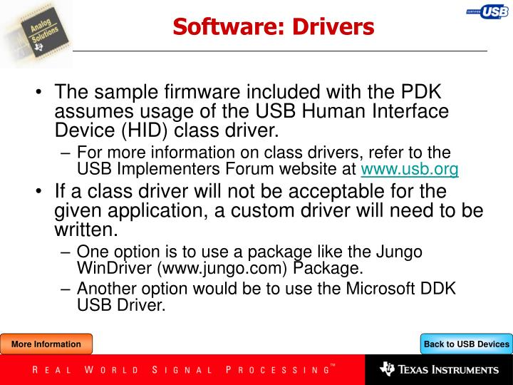 Software: Drivers