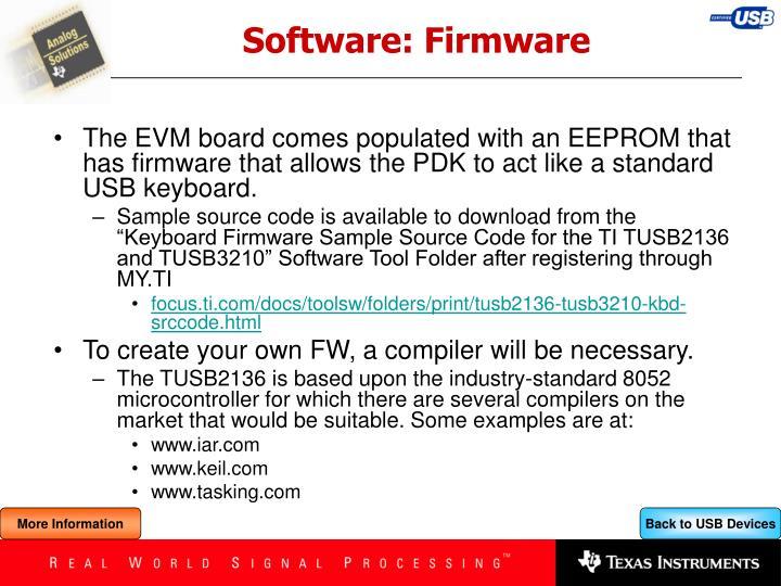 Software: Firmware