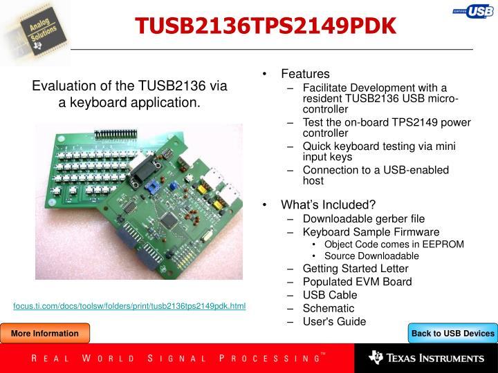 TUSB2136TPS2149PDK