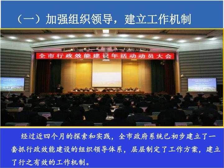 (一)加强组织领导,建立工作机制
