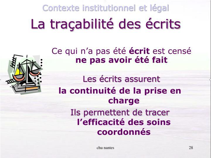 Contexte institutionnel et légal