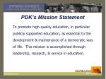 pdk s mission statement