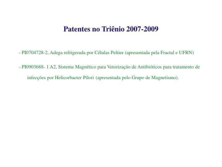 Patentes no Tri
