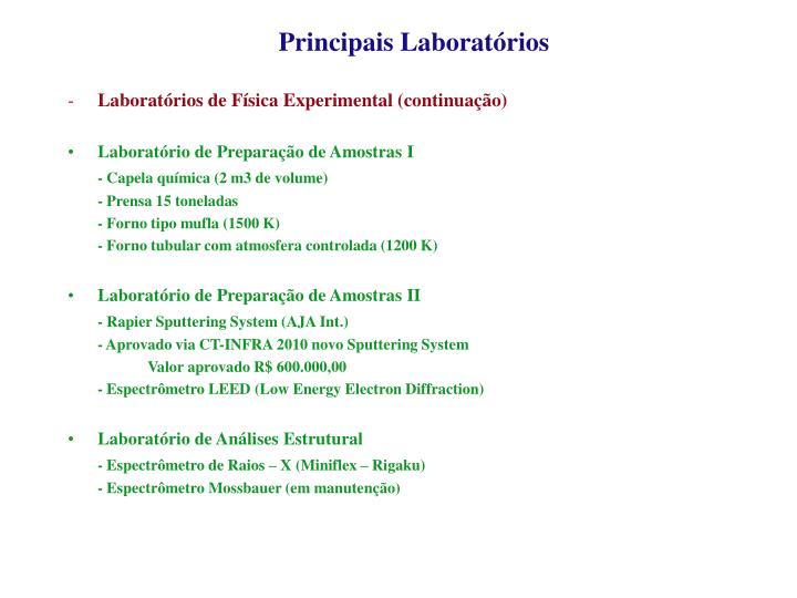 Principais Laboratórios