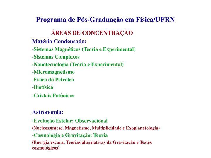Programa de P