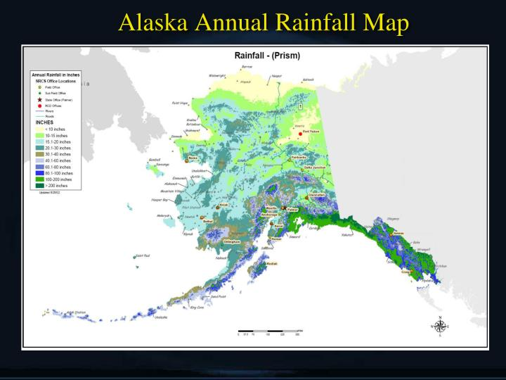 Alaska Annual Rainfall Map
