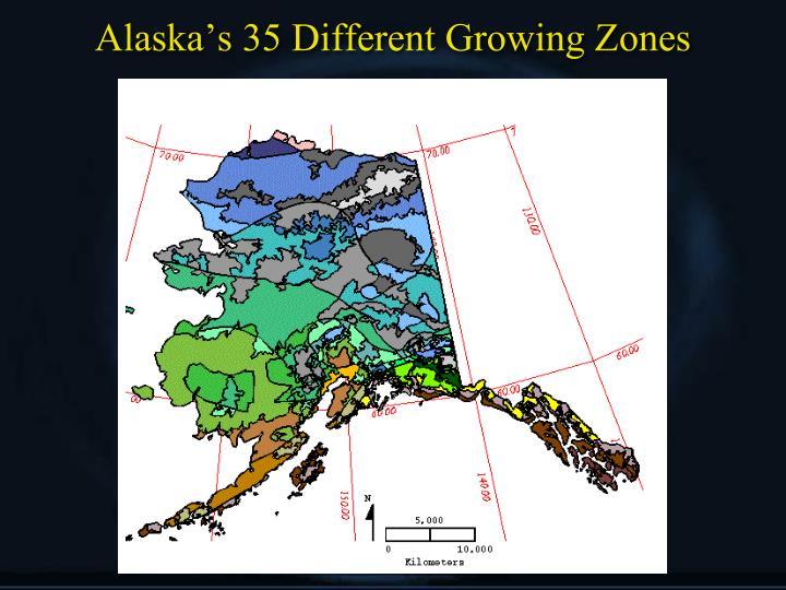 Alaska's 35 Different Growing Zones