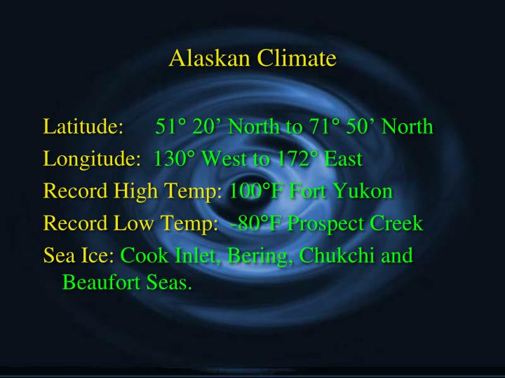 Alaskan Climate