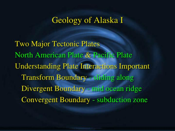 Geology of Alaska I