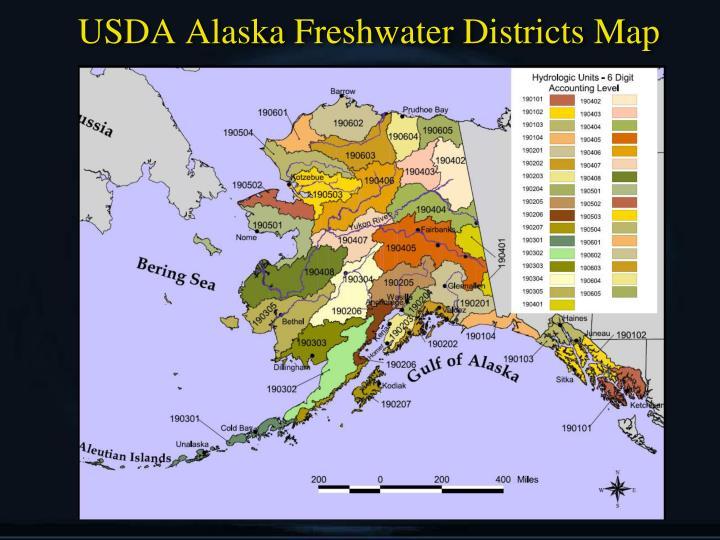 USDA Alaska Freshwater Districts Map