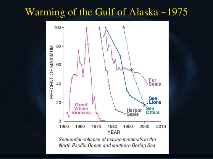 Warming of the Gulf of Alaska ~1975