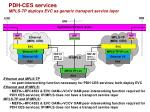 pdh ces services mpls tp deploys evc as generic transport service layer