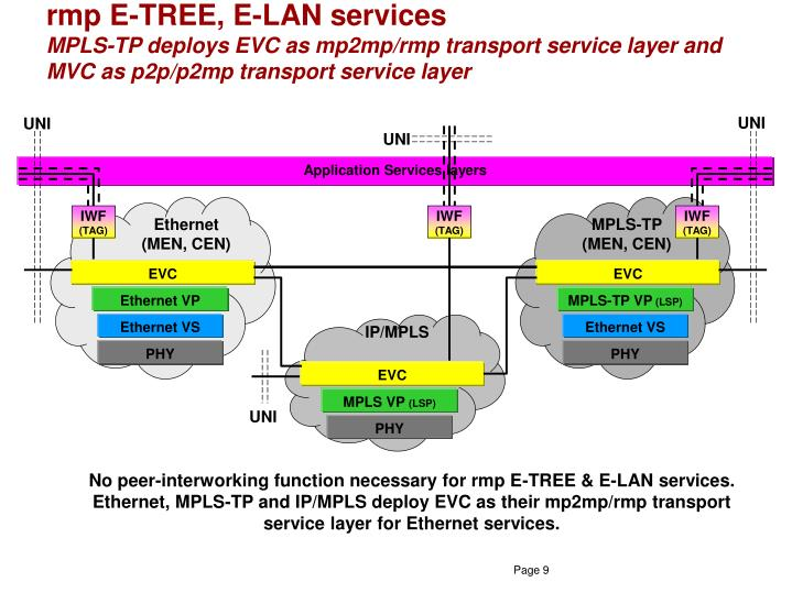 rmp E-TREE, E-LAN services