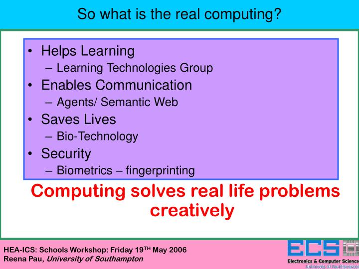 So what is the real computing?