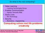 so what is the real computing