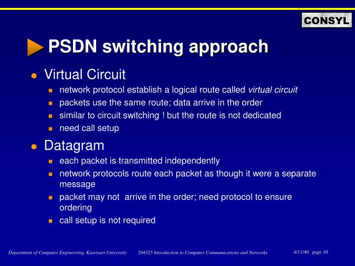 PSDN switching approach